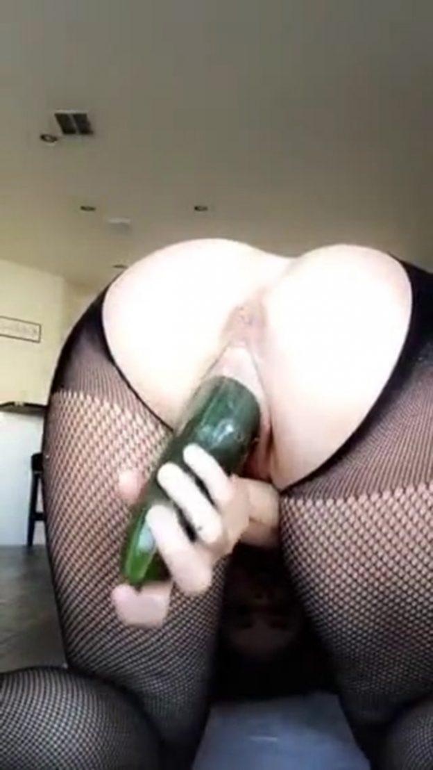 Allison Parker Cucumber Masturbation Video from SnapChat Premium The Fappening 2018